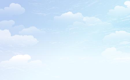Illustration pour Spreading blue sky and white cloud background.  File contains gradient,Transparent.  - image libre de droit