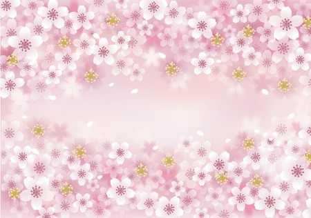 Illustration pour Sakura Cherry Blossom background. File contains Transparency, Blending tool, Gradients, Gradient Mesh. - image libre de droit