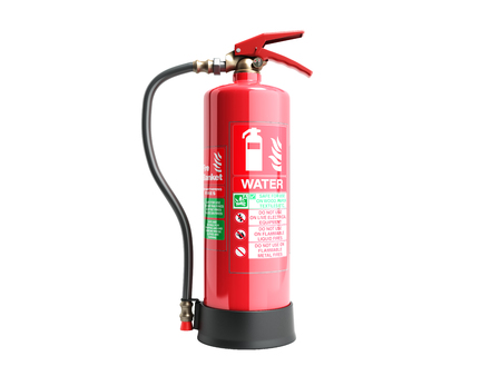 Photo for Water Fire extinguisher 3d render on white background no shadow - Royalty Free Image