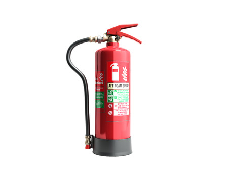 Photo for aff foam spray Fire extinguisher 3d render on white background no shadow - Royalty Free Image