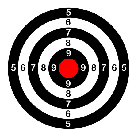 Ilustración de Target for shooting - Imagen libre de derechos