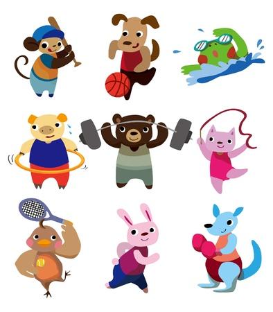cartoon animal sport