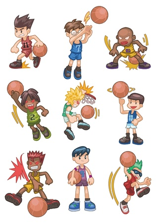 cartoon basketball icon