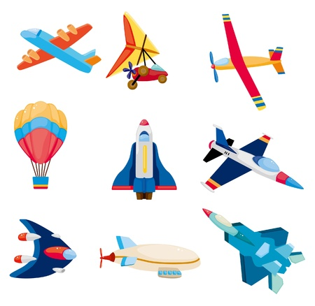 Photo pour cartoon airplane icon  - image libre de droit