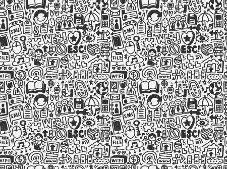 Ilustración de seamless internet network pattern - Imagen libre de derechos