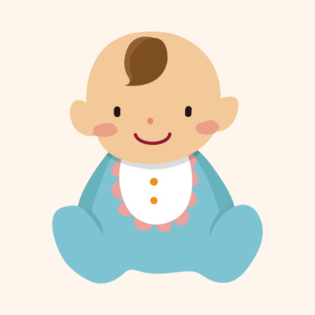 Photo for family baby character flat icon elements background,eps10 - Royalty Free Image