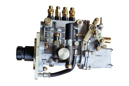 Photo pour Fuel pump of a high pressure the diesel on a white background - image libre de droit