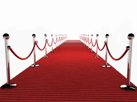Photo pour Red Carpet over white Background - image libre de droit