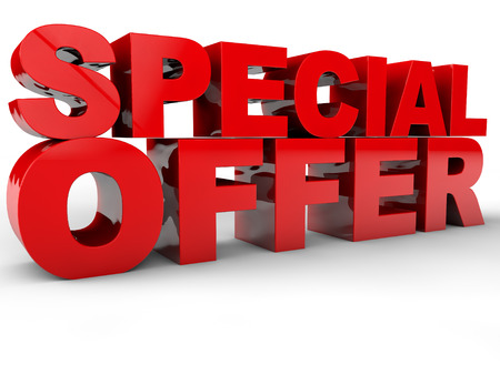 Photo for Special Offer - 3D Text over white Background - Royalty Free Image