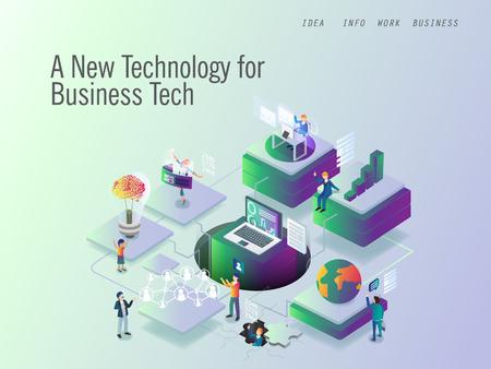 Illustration pour data protection for modern technology - image libre de droit