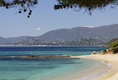 Gigaro beach near the city L