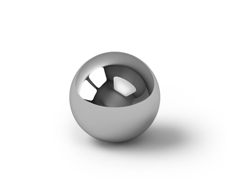 Photo pour Metal sphere render, isolated on white with clipping path - image libre de droit