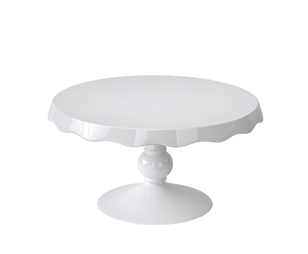 Foto de Porcelain cake stand isolated on white background. 3D rendering - Imagen libre de derechos