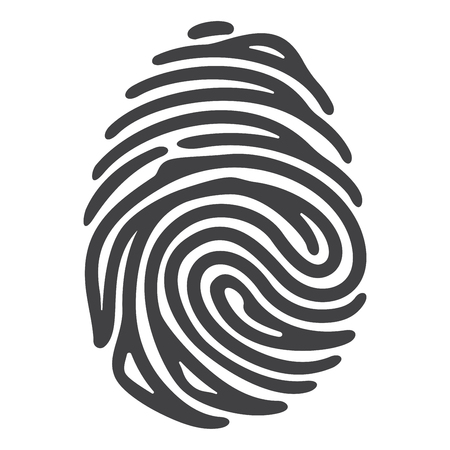 Ilustración de Vector black fingerprint isolated on white background - Imagen libre de derechos