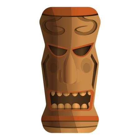 Ilustración de Pacific idol icon. Cartoon of pacific idol vector icon for web design isolated on white background - Imagen libre de derechos