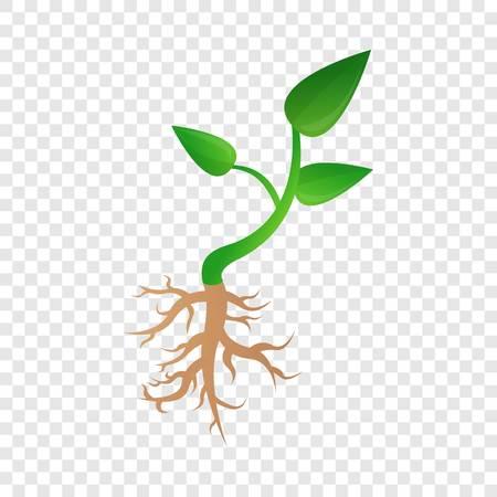 Illustration pour Small plant soybean icon. Cartoon of small plant soybean vector icon for web design for web design - image libre de droit