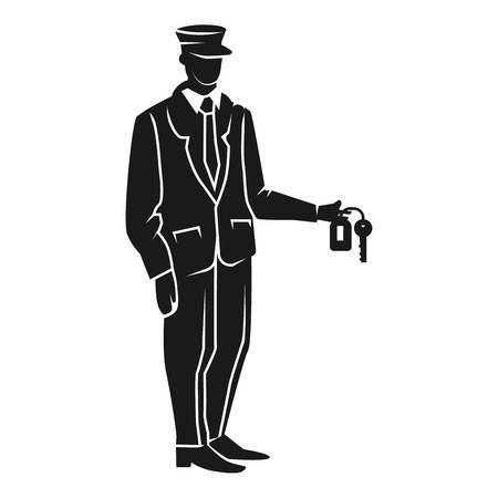 Illustration pour Valet hand key icon. Simple illustration of valet hand key vector icon for web design isolated on white background - image libre de droit