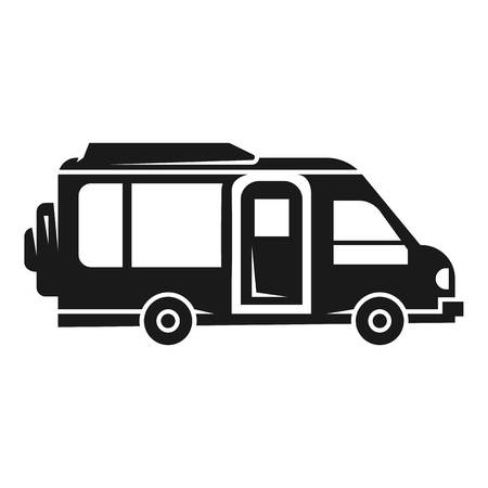 Illustration pour Camper car icon. Simple illustration of camper car vector icon for web design isolated on white background - image libre de droit