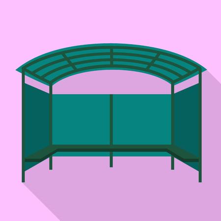 Foto de Tent bus station icon. Flat illustration of tent bus station icon for web design - Imagen libre de derechos