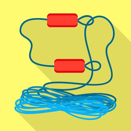 Photo for Rafting rope icon. Flat illustration of rafting rope icon for web design - Royalty Free Image