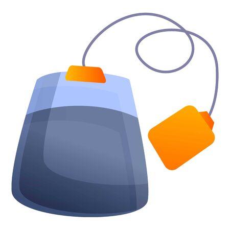 Ilustración de Tea bag icon. Cartoon of tea bag vector icon for web design isolated on white background - Imagen libre de derechos
