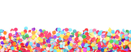 Photo for confetti isolated on white background - Royalty Free Image