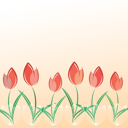 Illustration pour Spring greeting card template with space for text. - image libre de droit