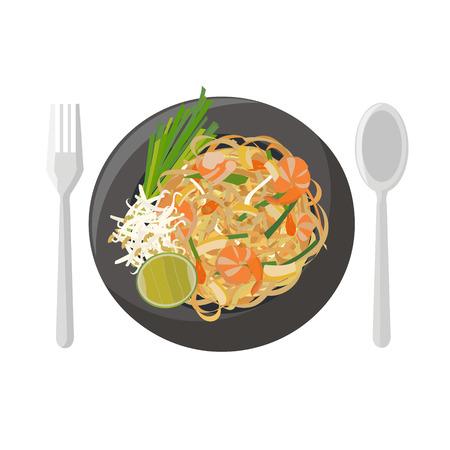 Ilustración de Thai food vector illustration cartoon - Imagen libre de derechos