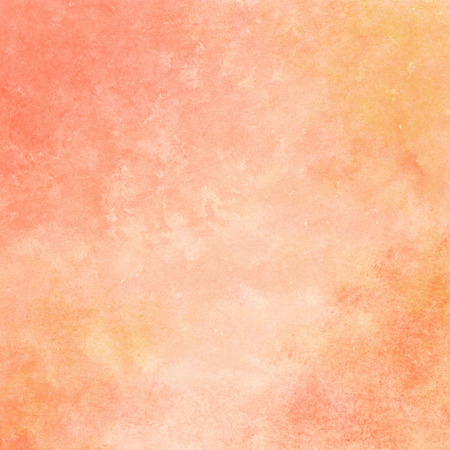Photo for peach and orange watercolor texture background, hand painted - Royalty Free Image