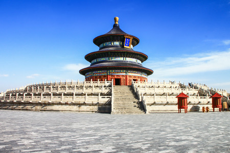Photo for temple of heaven with blue sky, Beijing, China - Royalty Free Image