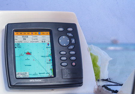 Photo pour speedboat GPS navigator - image libre de droit