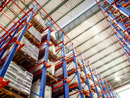 Photo for high rack in warehouse - Royalty Free Image