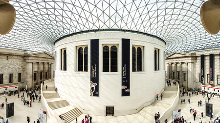 Foto de main hall of The British Museum, London, UK - Imagen libre de derechos