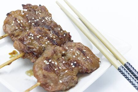 grilled pork topped Salt fast food popular in Thailand and overseas