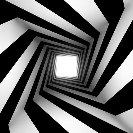 Photo pour black and white square spiral - image libre de droit