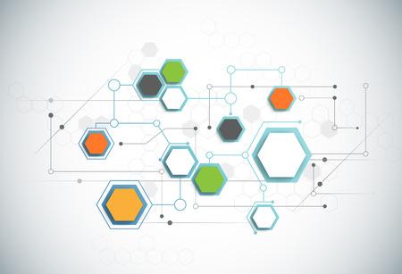 Illustration pour Abstract futuristic - Molecules technology background. Illustration Vector design digital technology concept. - image libre de droit