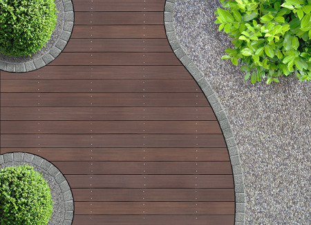 Foto de aesthetic garden design detail seen from above - Imagen libre de derechos