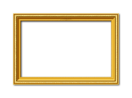 Illustration pour golden ornamental vintage style frame isolated on white background - image libre de droit