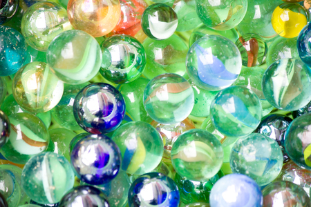 Photo for Colored glass balls as background - Royalty Free Image