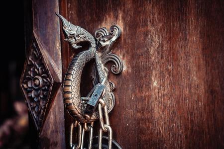 Photo pour Close up of  Naga  Door Handle. - image libre de droit