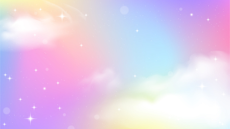 Illustration pour Unicorn Sky Colorful Gradient, Unicorn Gradient background colorful. - image libre de droit