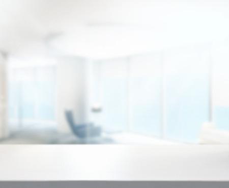 Foto de Wood Table Of Background in Office - Imagen libre de derechos