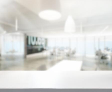 Photo pour Table Top And Blur Office Of Background - image libre de droit