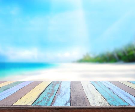 Foto de Table Top And Blur Nature of Background - Imagen libre de derechos