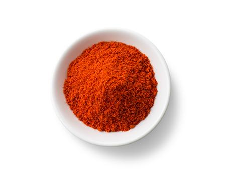 Photo for Paprika powder isolated on white background - Royalty Free Image