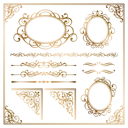 Illustration for Golden frames - Royalty Free Image