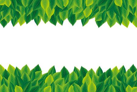 Illustration for Green leaves frame - Royalty Free Image