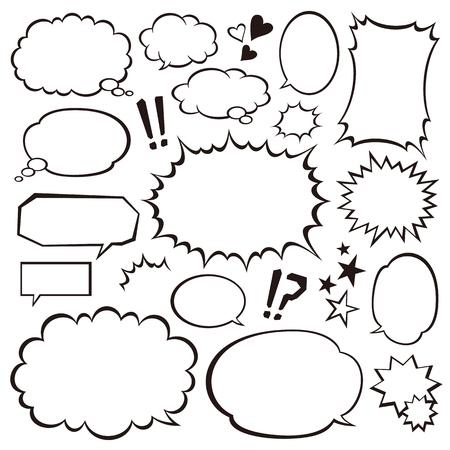 Ilustración de Speech bubbles - Imagen libre de derechos