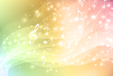Illustration for Colorful music background - Royalty Free Image