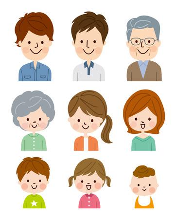 Illustration pour People of different ages - image libre de droit